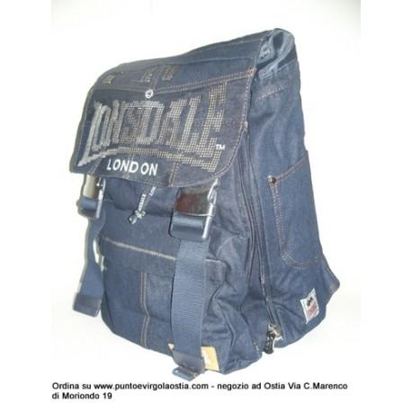 Lonsdale - Zaino estensibile jeans blu