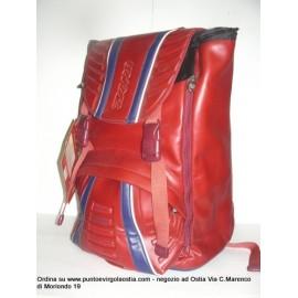 Seven Race - Zaino estensibile rosso similpelle