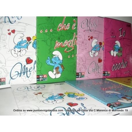 Puffi - maxi quaderni varie rigature