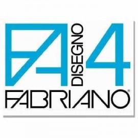 Fabriano F4 liscio riquadrato - Blocco disegno 24x34 cm
