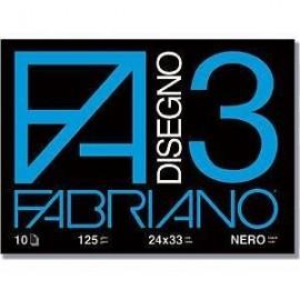 Fabriano F3 nero spillato - Album disegno 24x33 cm