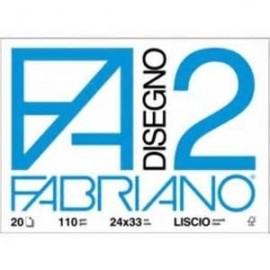 Fabriano F2 ruvido spillato - Album disegno 24x33 cm