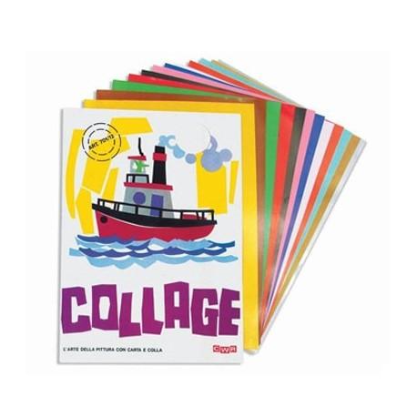 Cwr - Album collage 6 fogli carta adesivi 24x34 cm