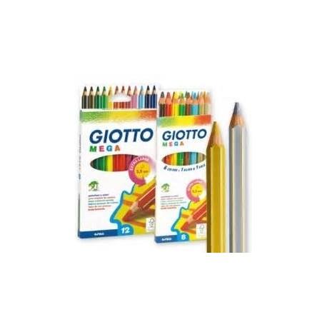 Giotto Mega - matite 8 colori assortiti