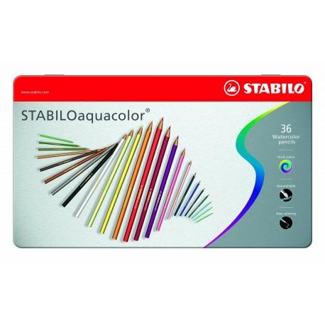 Stabilo Acquacolor - pastelli matite 24 colori assortiti