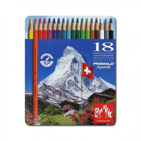 Caran D'ache Prismalo - pastelli matite 18 colori assortiti