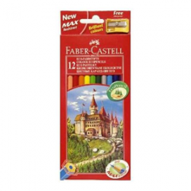 Faber Castell Redrange - pastelli matite 12 colori assortiti