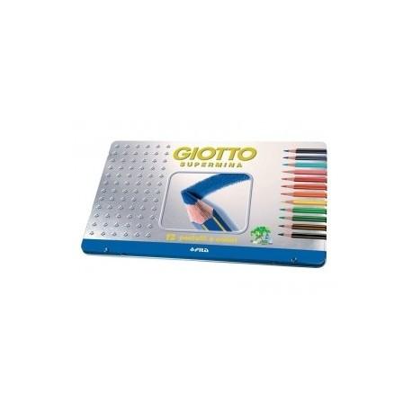 Giotto Supermina metallo - pastelli matite 24 colori assortiti