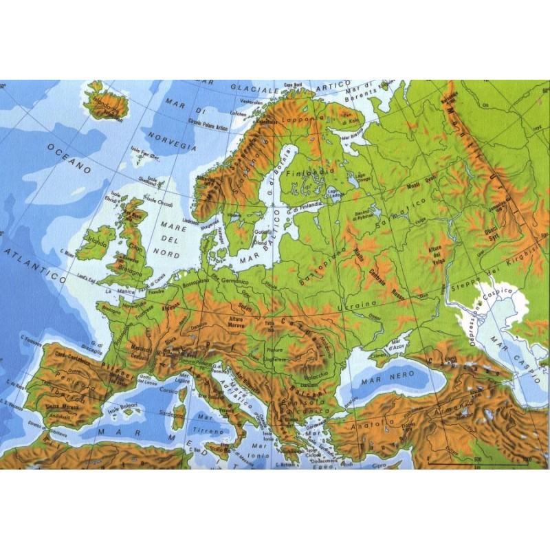 Cartina Geografica Europa Da Stampare.Deagostini Carta Murale Europa 140cm X 100cm