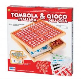 Rsta - tombola italiana 48 cartelle + gioco oca