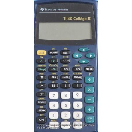 Texas TI 40 college - Calcolatrice Scientifica