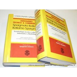 Sansoni - dizionario tecnico commerciale italiano/spagnolo - spagnolo italiano