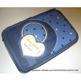 Denny Rose dots blu - Astuccio tre zip