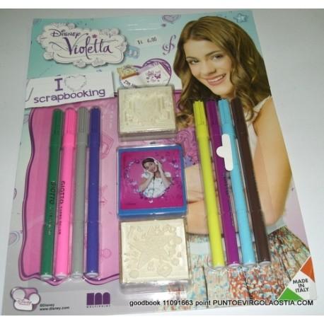 Violetta - Set 2 timbri e pennarelli