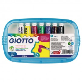 Giotto Basic - scatola 7 colori tempera